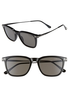 Tom Ford 53mm Polarized Rectangle Sunglasses