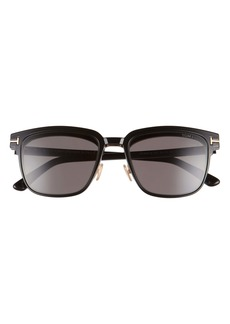 Tom Ford 54mm Blue Light Blocking Glasses & Clip-On Sunglasses