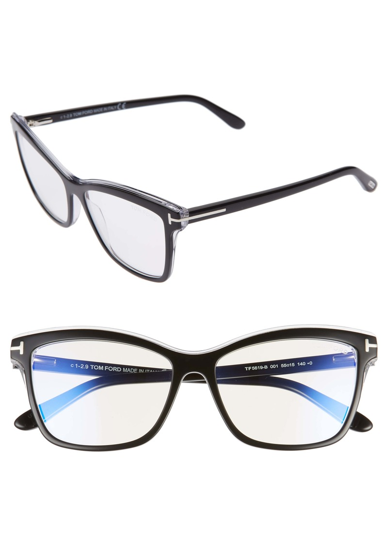 Tom Ford 55mm Blue Light Blocking Glasses