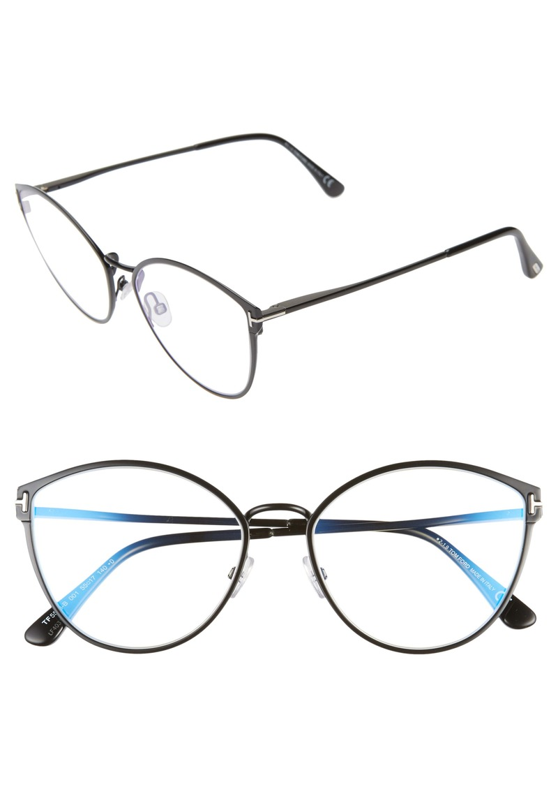 Tom Ford 55mm Blue Light Blocking Optical Glasses