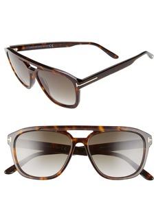 Tom Ford Gerrard 56mm Aviator Sunglasses