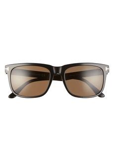 Tom Ford Stephenson 56mm Polarized Square Sunglasses