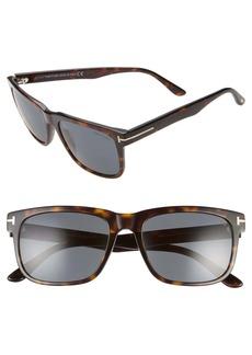 Tom Ford Stephenson 56mm Rectangle Sunglasses