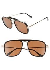 Tom Ford 58mm Navigator Sunglasses