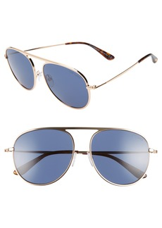 Tom Ford 59mm Aviator Sunglasses