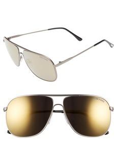 Tom Ford 60mm Aviator Sunglasses