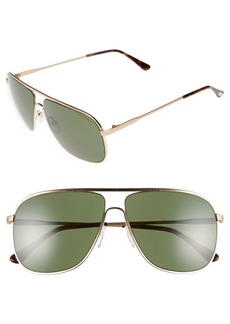 Tom Ford 60mm Aviator Sunglasses