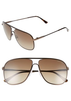 Tom Ford 60mm Matte Aviator Sunglasses