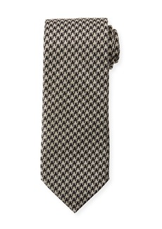 TOM FORD 8cm Large Houndstooth Tie  Gray