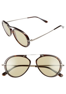 Tom Ford 'Aaron' 53mm Sunglasses