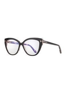 TOM FORD Acetate Cat-Eye Optical Glasses