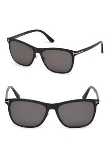 Tom Ford Alasdhair 55MM Square Sunglasses