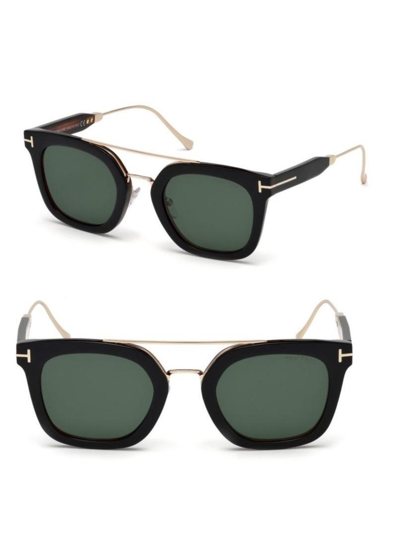 5dd5022681a Tom Ford Alex 51MM Square Sunglasses