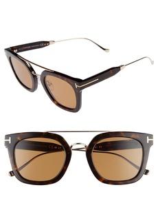 Tom Ford Alex 51mm Sunglasses