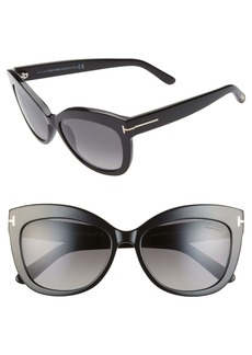 Tom Ford Alistair 56mm Polarized Cat Eye Sunglasses