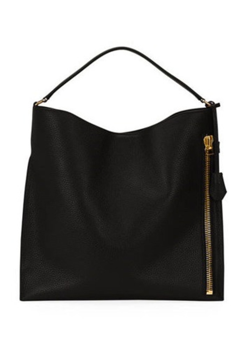 TOM FORD Alix Small Calfskin Hobo Bag