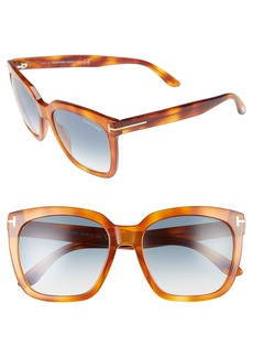Tom Ford Amarra 55mm Gradient Lens Square Sunglasses
