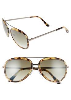Tom Ford Andy 58mm Aviator Sunglasses