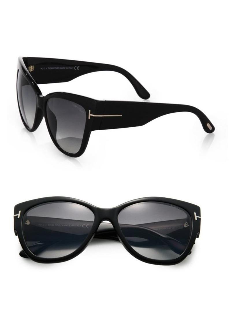 a4c0f924f3938 Tom Ford Anoushka 57MM Cat Eye Sunglasses