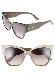 Tom Ford Anoushka 57mm Special Fit Butterfly Sunglasses