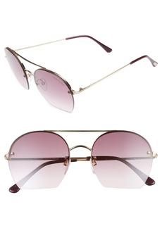 Tom Ford Antonia 55mm Gradient Lens Aviator Sunglasses