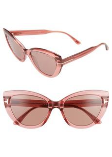 Tom Ford Anya 55mm Cat Eye Sunglasses