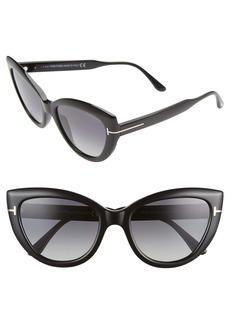 Tom Ford Anya 55mm Polarized Round Sunglasses
