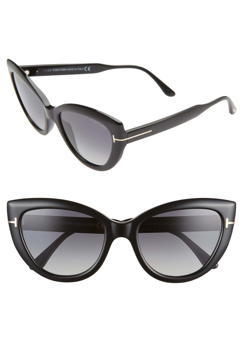Tom Ford Anya 55mm Polarized Round Sunglasses
