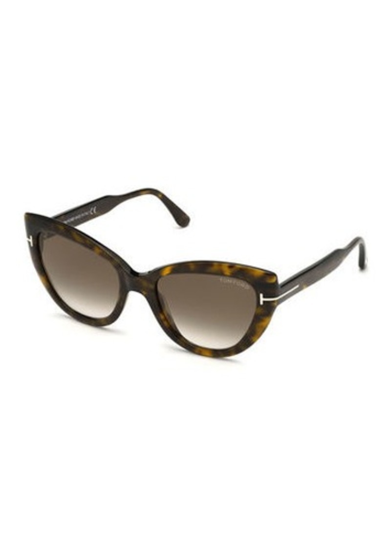 TOM FORD Anya Cat-Eye Monochromatic Sunglasses