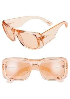 Tom Ford Aristotle 56mm Transparent Square Sunglasses