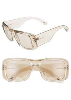 2f55d4dc07 Tom Ford Aristotle 56mm Transparent Square Sunglasses