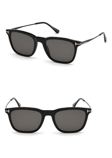 Tom Ford Arnaud 53mm Polarized Sunglasses