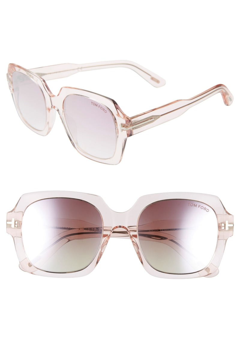 Tom Ford Autumn 53mm Square Sunglasses