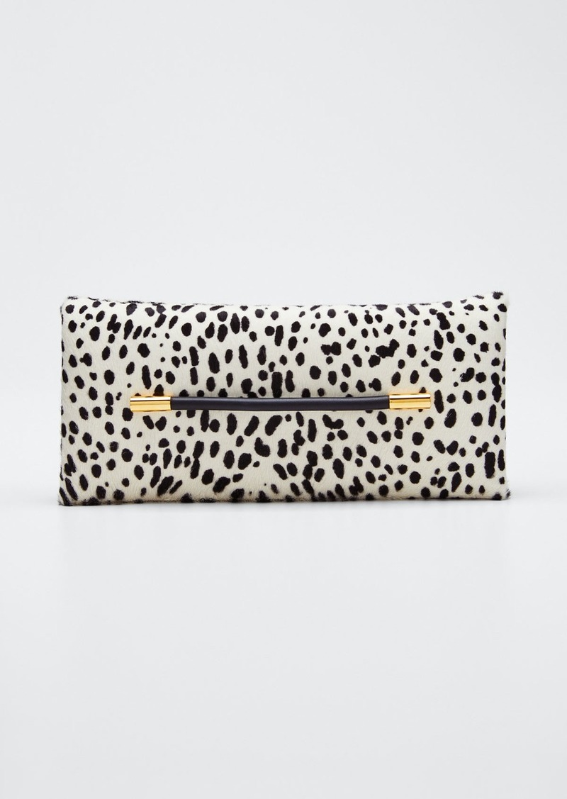 TOM FORD Ava Polka-Dot Calf Hair Pochette Clutch Bag