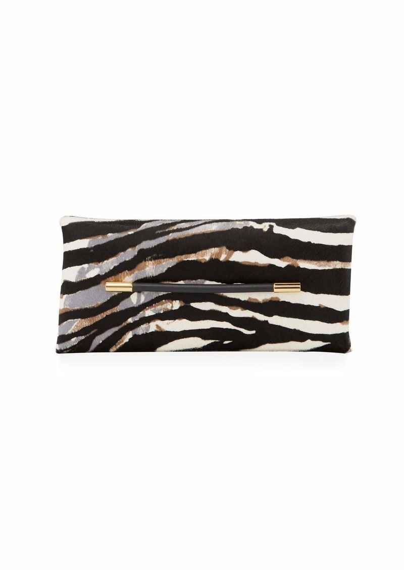 TOM FORD Ava Zebra-Print Calf Hair Clutch Bag