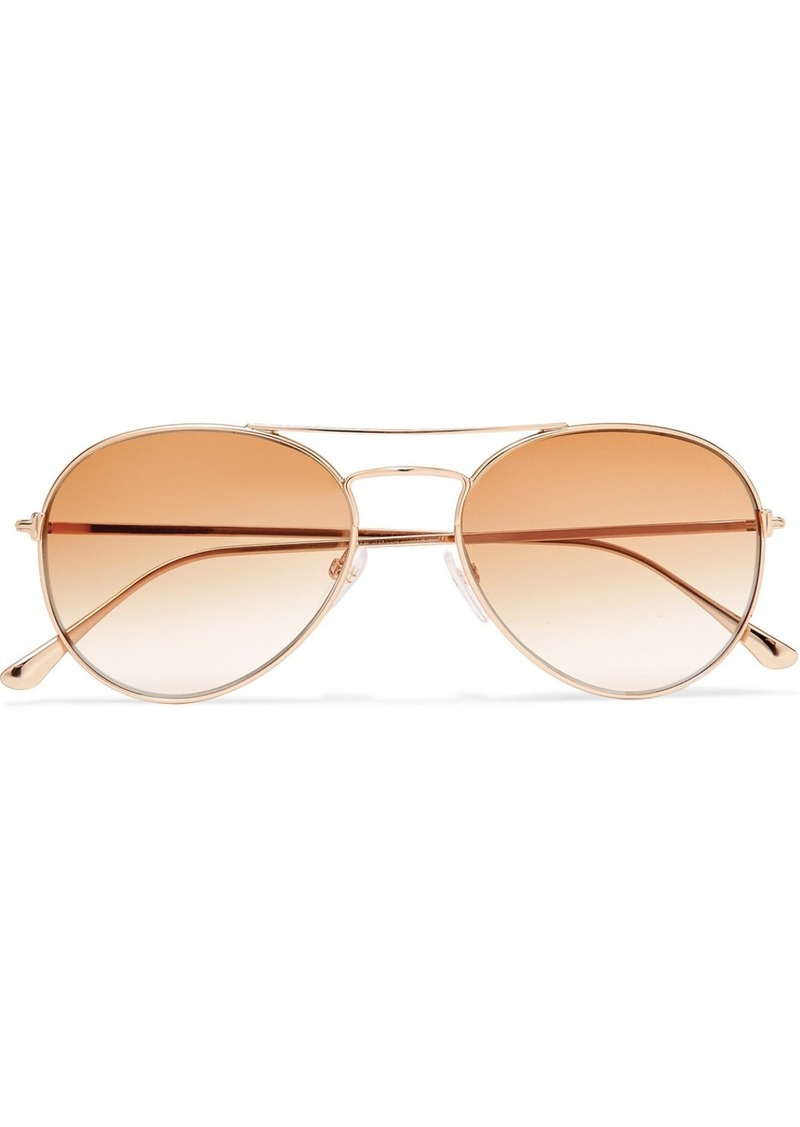 613bb6300fb68 Tom Ford Aviator-style Rose Gold-tone Sunglasses