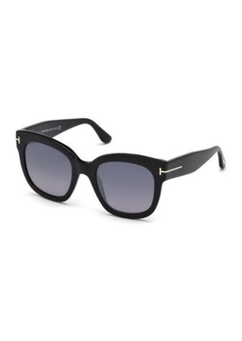 TOM FORD Beatrix Square Plastic Sunglasses