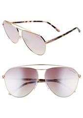 Tom Ford Binx 63mm Oversize Aviator Sunglasses