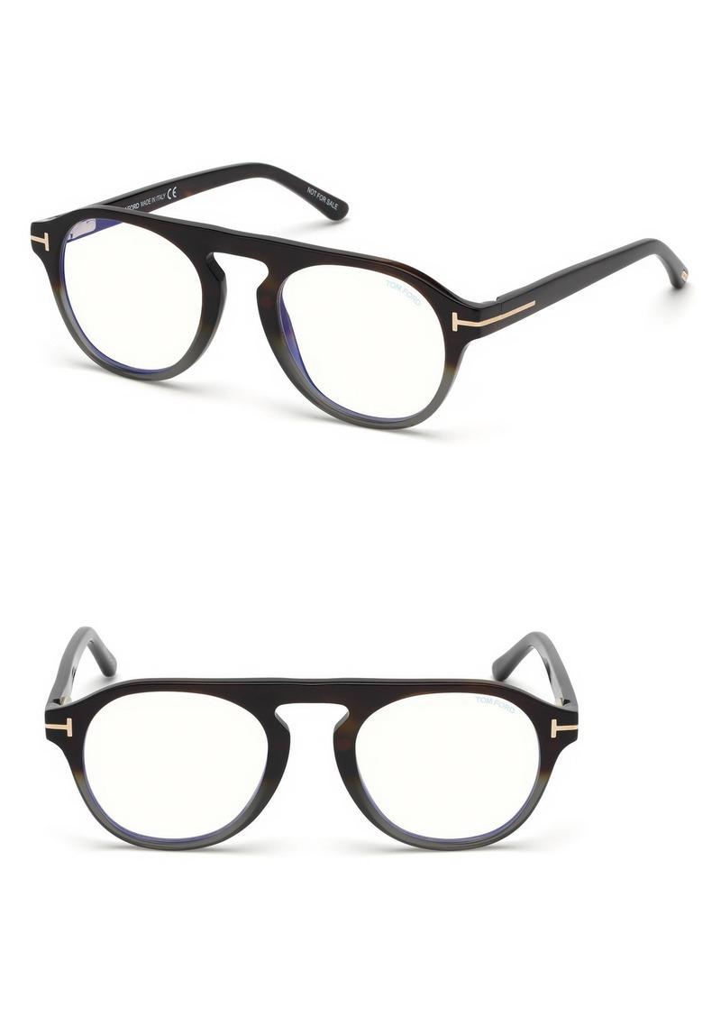 b8443627fe Tom Ford Tom Ford 49mm Blue Light Blocking Glasses with Clip-On Lens ...
