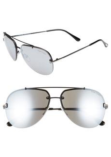 Tom Ford Brad 63mm Metal Aviator Sunglasses