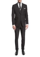 TOM FORD Buckley Base Pinstripe Three-Piece Wool Suit