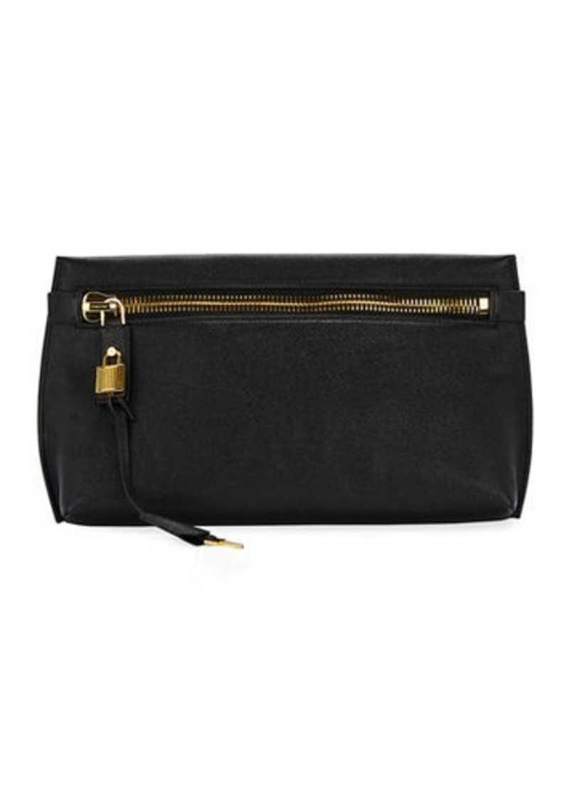 TOM FORD Buffalo Grain Clutch Bag