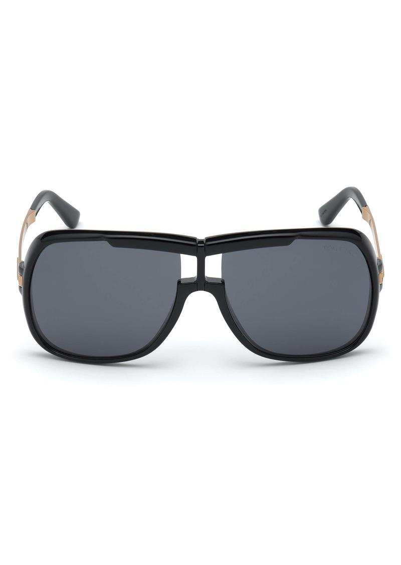 Tom Ford Caine 62mm Navigator Sunglasses