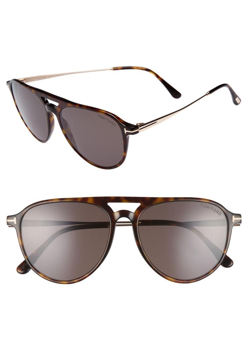 Tom Ford Carlo 59mm Aviator Sunglasses