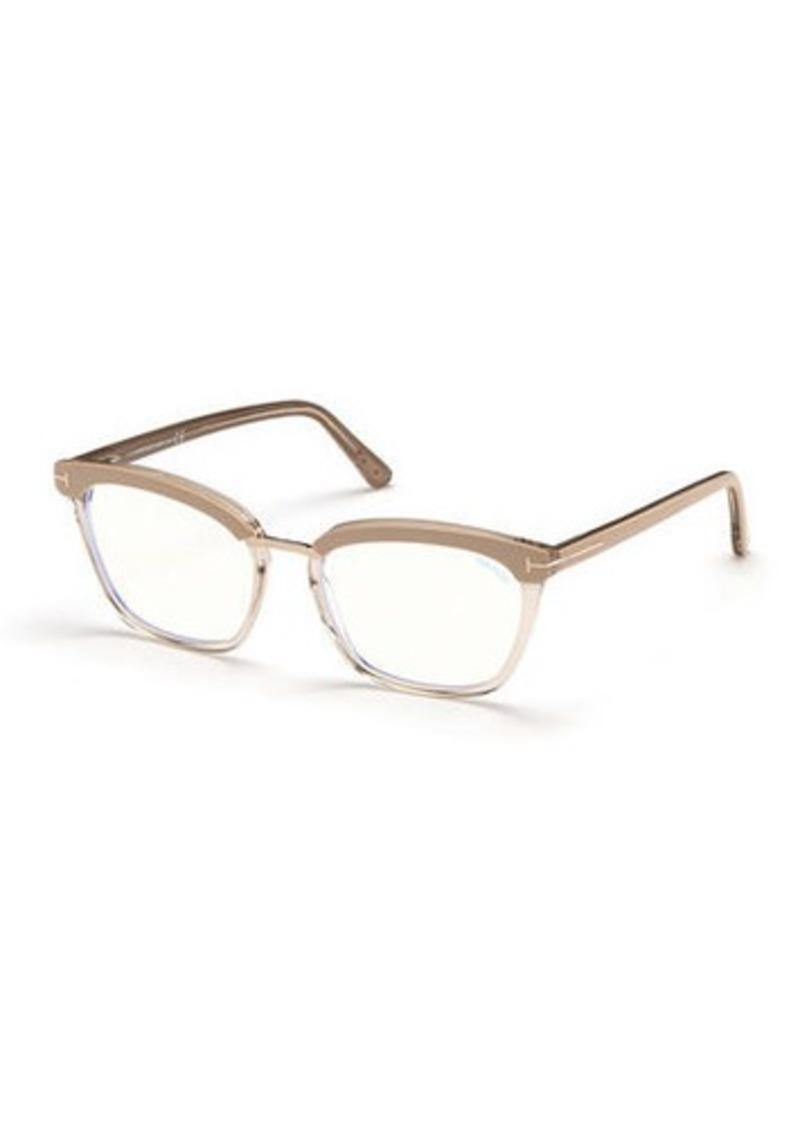 TOM FORD Cat-Eye Transparent Acetate Optical Frames