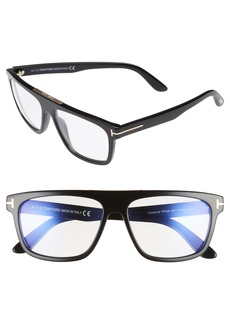 Tom Ford Cecilio 57mm Blue Block Optical Glasses