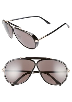 Tom Ford Cedric 65mm Aviator Sunglasses