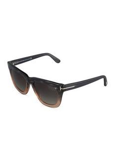 TOM FORD Celina Square Ombre Acetate Sunglasses