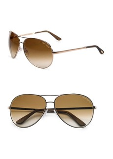 Tom Ford Charles Metal Aviator Sunglasses