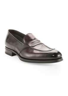 TOM FORD Charles Penny Loafer  Dark Brown